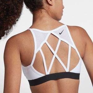 Nike Indy Cooling Strappy Back Bra - White